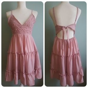 Dresses & Skirts - Sweet Cotton Sundress w/Crochet Bodice
